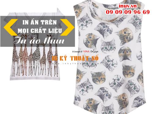 In áo thun từ công nghệ in phun kỹ thuật số, cách thức in mới mang nhiều hiệu quả cả về chất lượng, màu sắc từ Công ty In Kỹ Thuật Số - Digital Printing