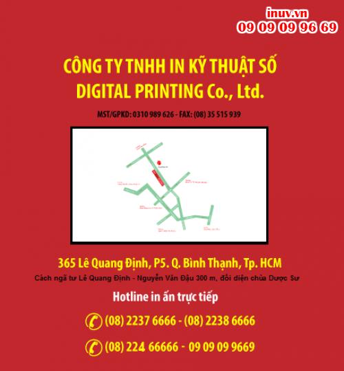 Liên hệ đặt in UV tại Cty TNHH In Kỹ Thuật Số - Digital Printing