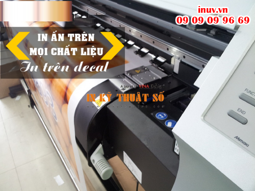 Tem decal trong được thực hiện in ấn, gia công hoàn thiện tại Công ty In Kỹ Thuật Số - Digital Printing
