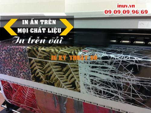 In trên vải từ máy in phun kỹ thuật số thực hiện in ấn tại Công ty In Kỹ Thuật Số - Digital Printing