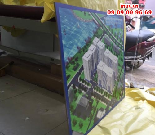 Tranh in UV mô hình dự án khu nhà ở P.Linh Đông, Q.Thủ Đức, Tp. Hồ Chí Minh có chất lượng cực rõ nét và màu tuyệt đẹp, ấn tượng và bền lâu